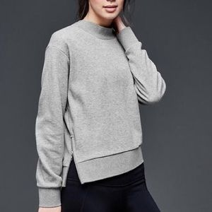 Gapfit Grey Size Zip Workout Pullover Small